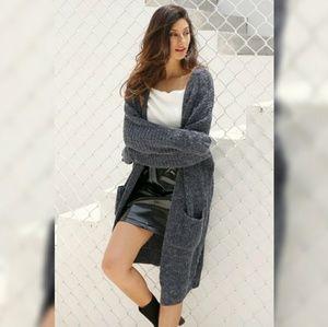 Sweaters - 'Tia' Long Sleeve Knit Cardigan Sweater w/ Pocket